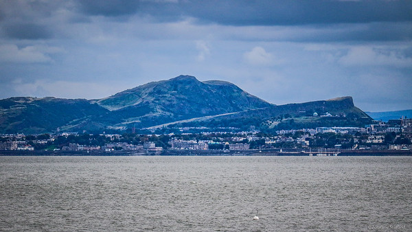 Edinburgh as seen from Aberdour, Fife