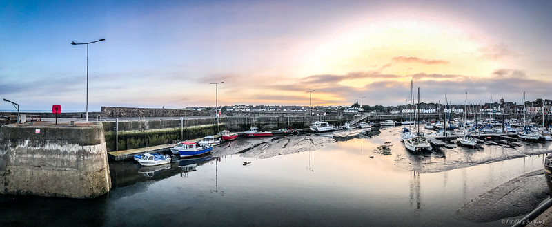 Ansthruther Harbour at Dusk
