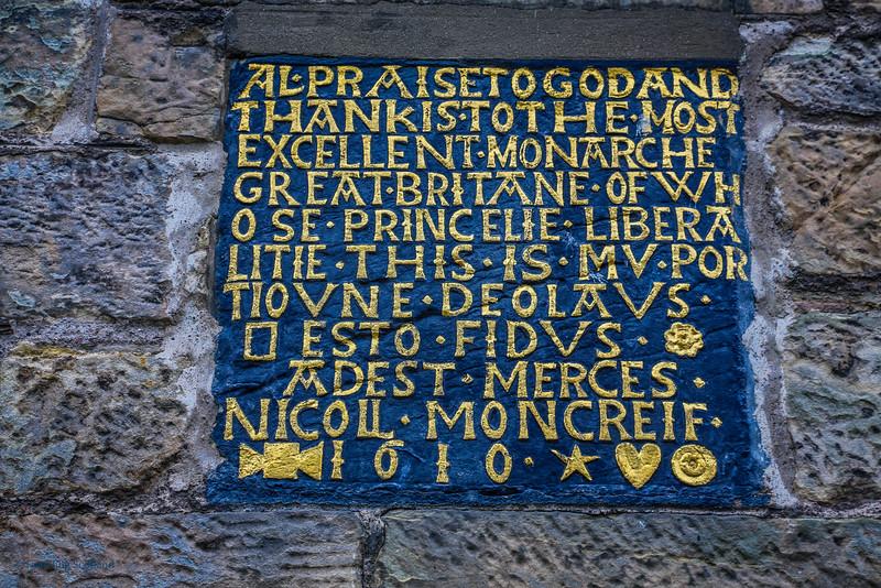 Moncrieff Inscription
