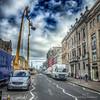 Filming in George Street, Edinburgh