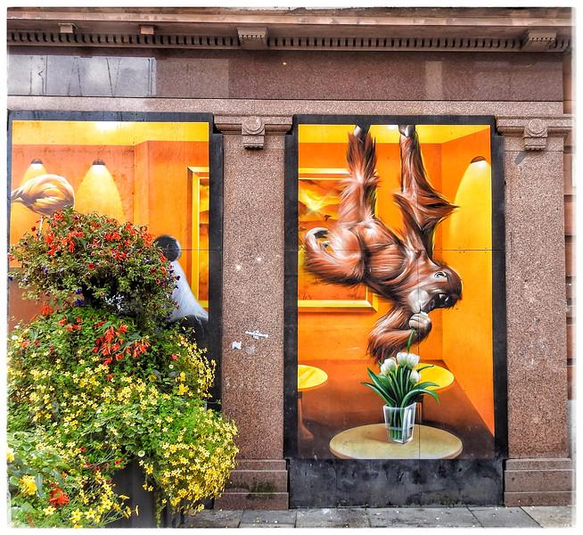 Mural: Argyle Street Cafe, Glasgow