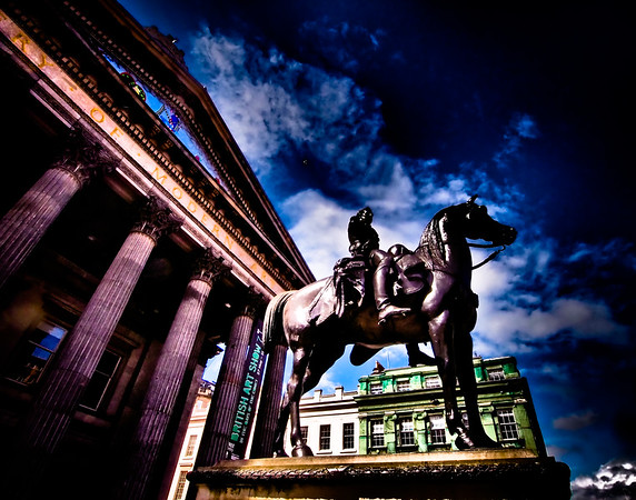 Wellington  Statue of Wellington in front of Gallery of Modern Art, Glasgow