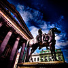 Wellington <br /> Statue of Wellington in front of Gallery of Modern Art, Glasgow