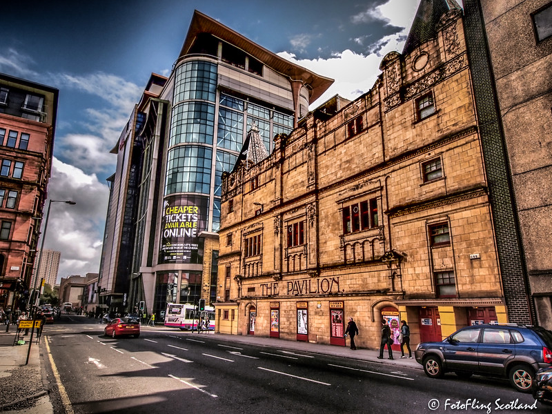 Pavilion Theatre & (opposite) former site of Green's Playhouse, Glasgow