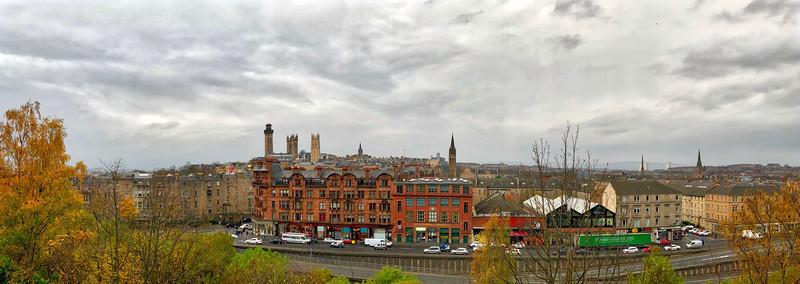 View from Hill Street, Garnethill, Glasgow