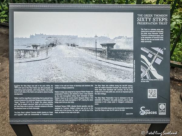 Signboard: The Sixty Steps & Queen Margaret Bridge