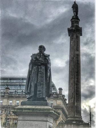 Glasgow Statues: Gladstone & Scott