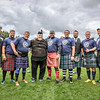 Dr Douglas Edmunds and Male Competitors in the Worlds Highlander Challenge