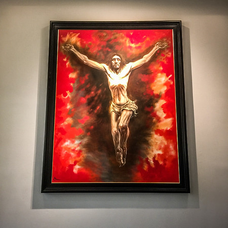 Painting of Christ's crucifixion by Peter Howson