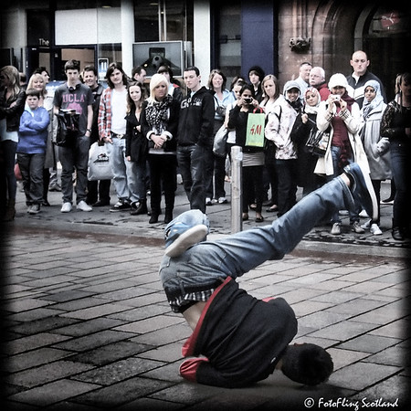 Breakdancing in Glasgow