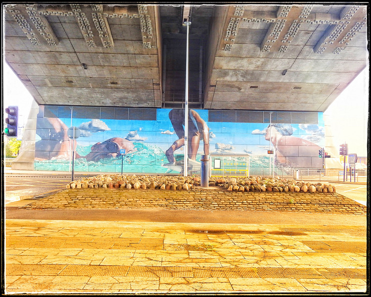 Mural - Kingston Bridge, Glasgow