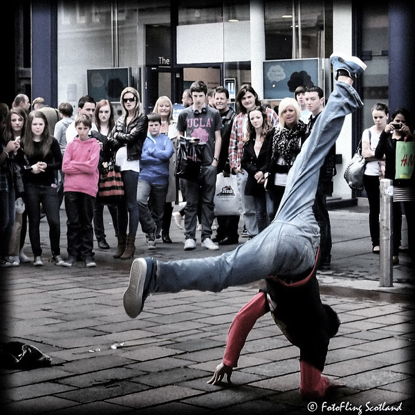 Breakdancing in Glasgow