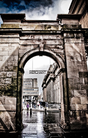 Entrance to Merchant City, Glasgow