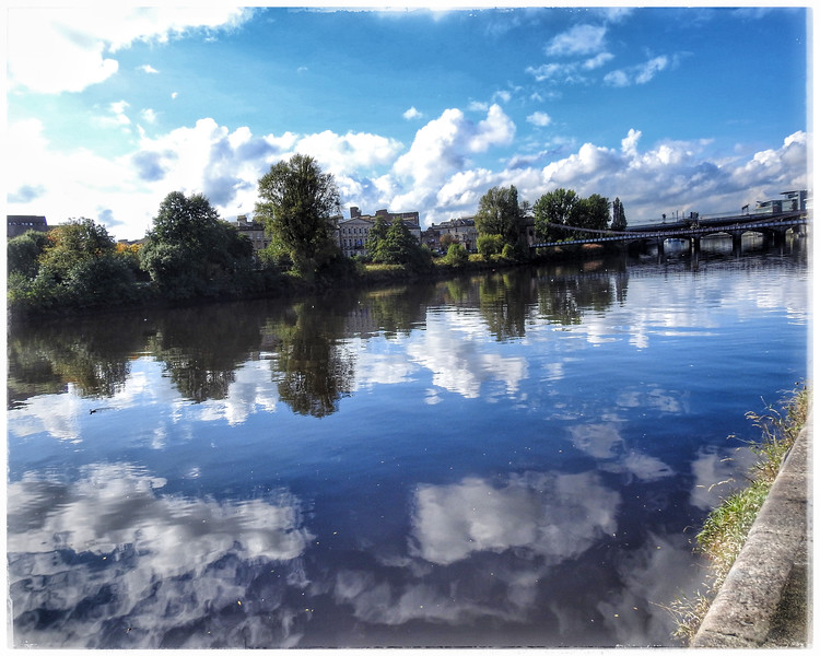 Reflections over the River Clyde