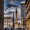 Statue and Column - Sir Walter Scott in George Square, Glasgow