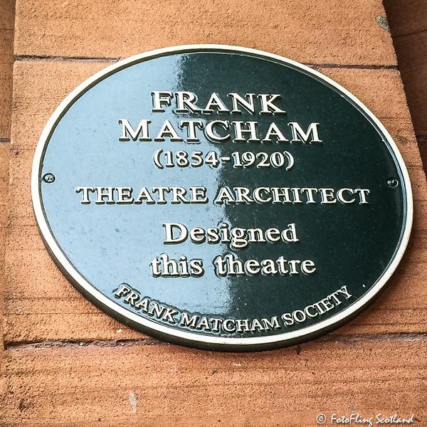 Plaque: King's Theatre, Glasgow