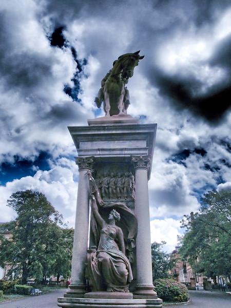 Equestrian statue of Frederick Roberts in Kelvingrove Park, Glasgow