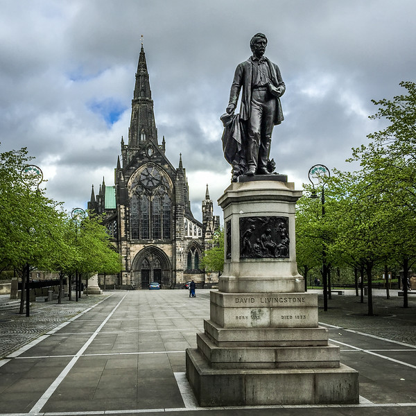 Glasgow Cathedral & Statue of David Livingstone