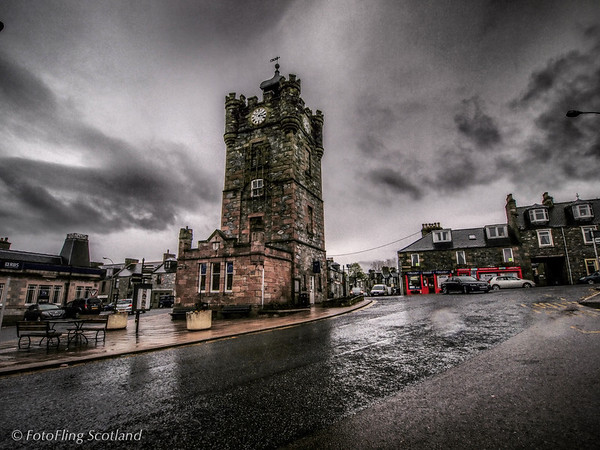 Dufftown Clock Tower Completed in 1839 - originally the town jail, later the Burgh Chambers.