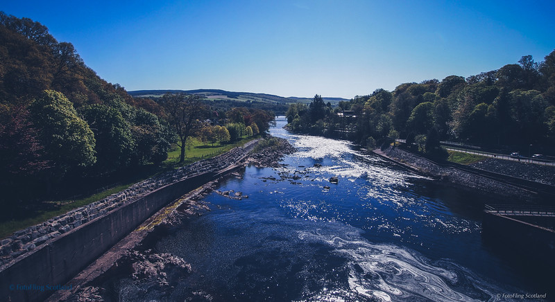 River Tummel from Pitlochry Dam, Perthshire,
