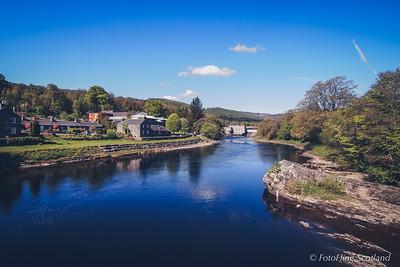 Pitlochry Festival Theatre set on edge of River Tummel, Perthshire