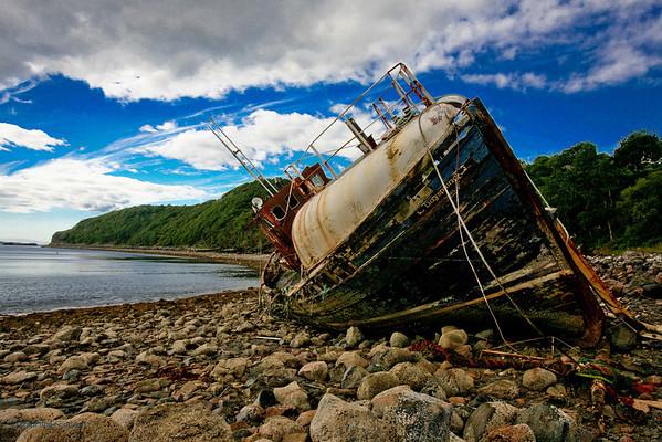 Wreck at Diabaig