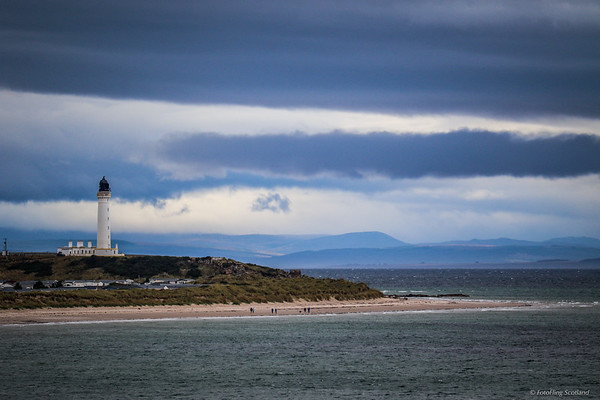 Covesea Lighthouse from Lossiemouth West beach