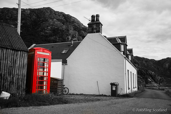 The Red Telephone Box -  Diabaig