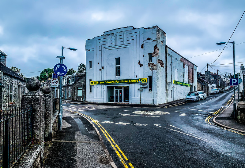 Former Picture House at Dalbeattie in Dumfries and Galloway - now a furniture store. It opened as the Electric Theatre in 1930 with 590 seats.