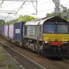 66421 leads 4M82 Coatbridge - Daventry through Coatbridge Central on 20th June 2013