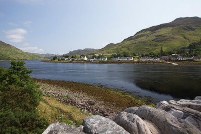 Loch Long and the town of Dornie, Highlands Council, Scotland.