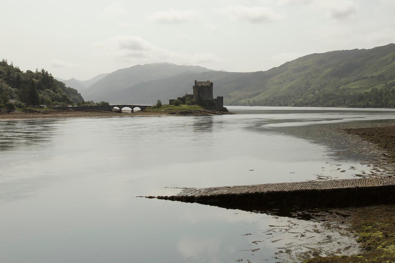 Eileen Donon Castle on Loch Duich.  Town of Dornie, Highlands Council, Scotland.