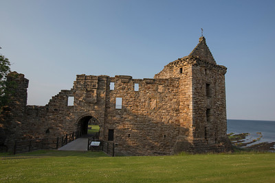 Ruins of St. Andrew's Castle.  Built c. 1200 AD. Overlooking the North Seas.  Royal Burgh of St. Andrews, Fife Council, Scotland.