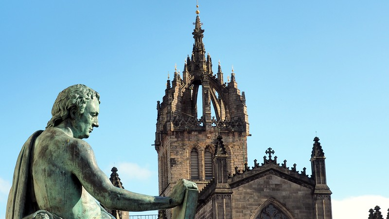 A shot of St Giles Cathedral - a major landmark - in Edinburgh, Scotland