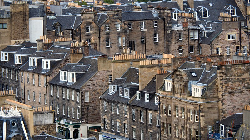 Rooftop views of Edinburgh, Scotland