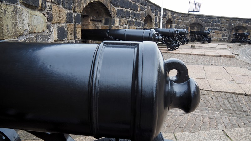 Cannons overlooking Edinburgh Castle