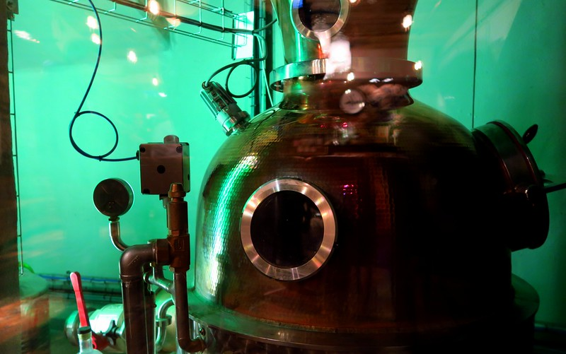 This is Flora, one of the stills inside the Edinburgh Gin Distillery. The other is called Caledonia.