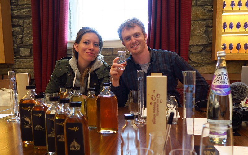 Taking part in the Scotch Whisky Experience in Edinburgh, Scotland