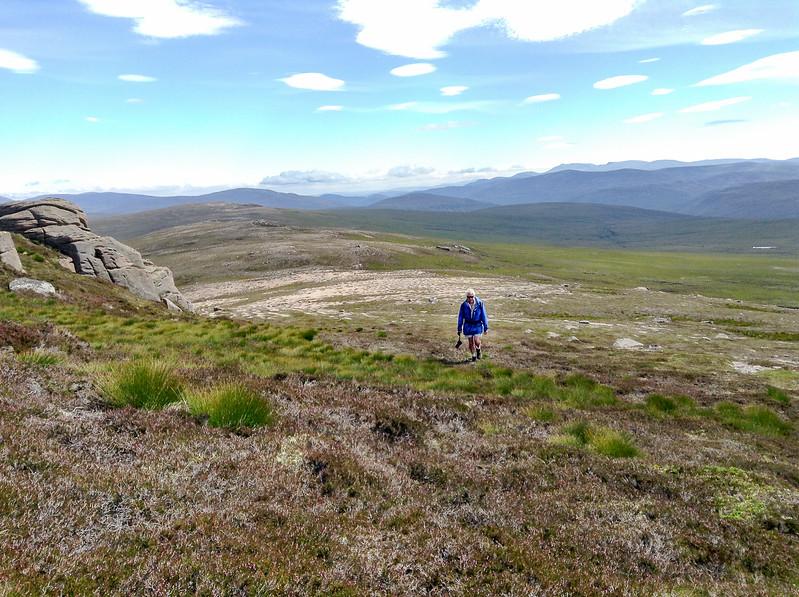 Still on the ridge approaching Sgor Mor