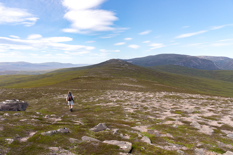 Always another hill to get over - that's not Sgor Mor yet