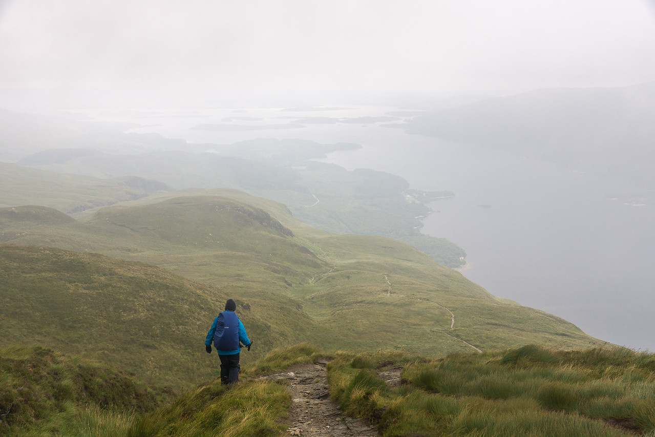 Walking down the other side of Ben Lomond