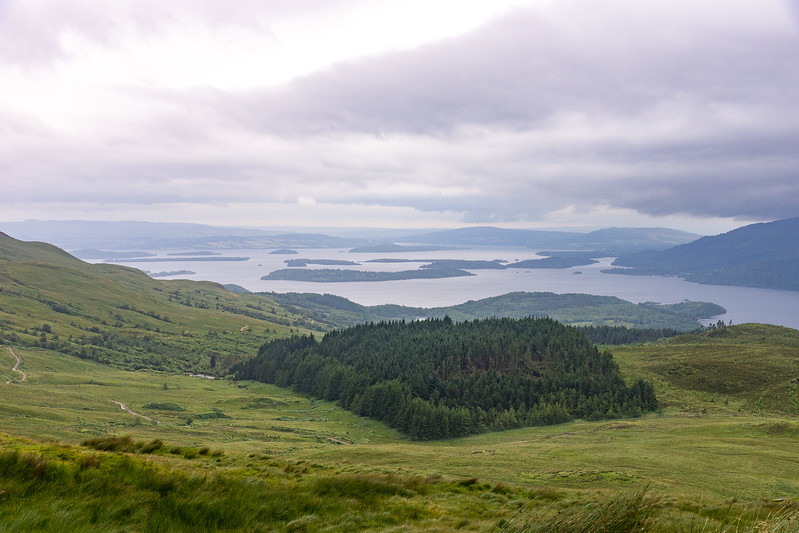 View toward the south end of Loch Lomond
