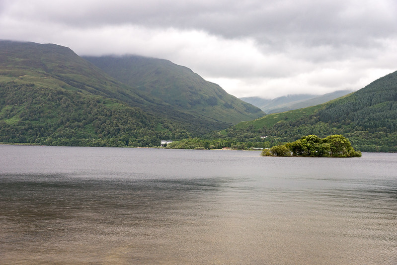View of our hotel from across Loch Lomond