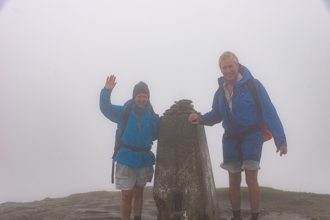 The cairn at the top of Ben Lomond