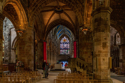 Interior of St Giles' Cathedral, also known as the High Kirk of Edinburgh