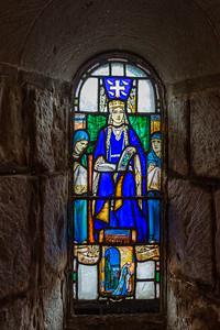A detail from St Margaret's Chapel; Edinburgh Castle