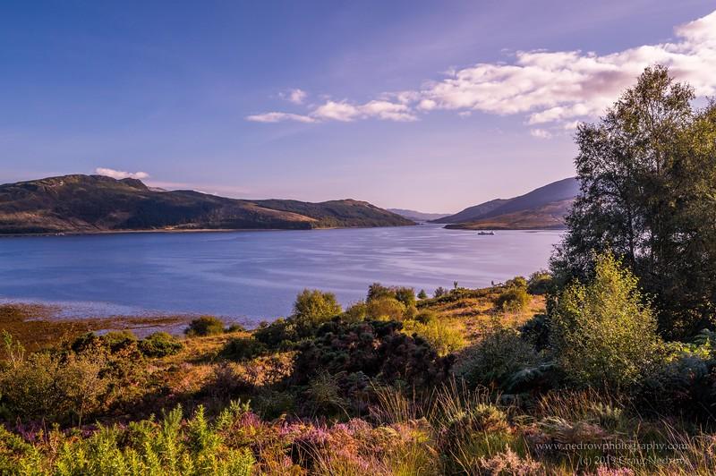 Balmacara, Looking across Loch Alsh