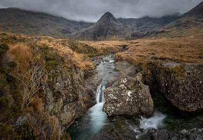 The fairy pools with their rough rocks and flowing water are world famous
