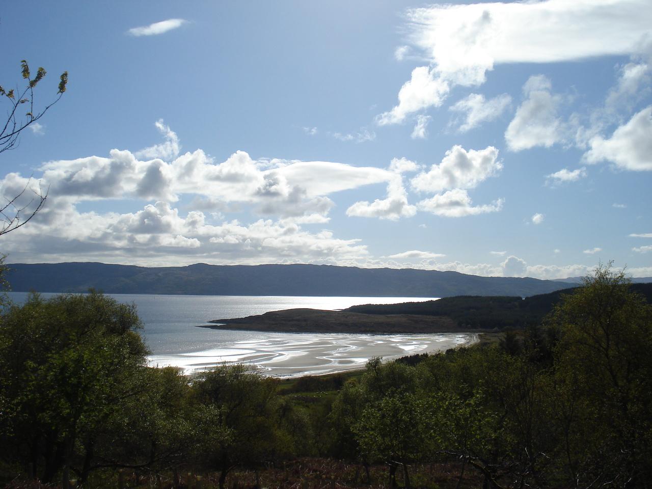Kilbride Bay and Beach on Loch Fyne, Scotland