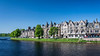 The River Ness and the city of Inverness, Scotland, United Kingdom, Europe.